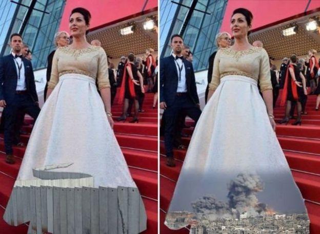 شمار زیادی از کاربران در فیسبوک تصاویر دیگری را جانشین طرح لباس وزیر فرهنگ اسرائیل کردند