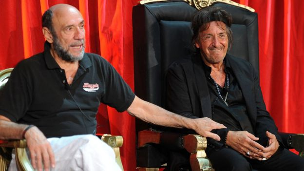 F Murray Abraham with Al Pacino