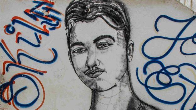 Pintura em homenagem a jovem morto em Fortaleza