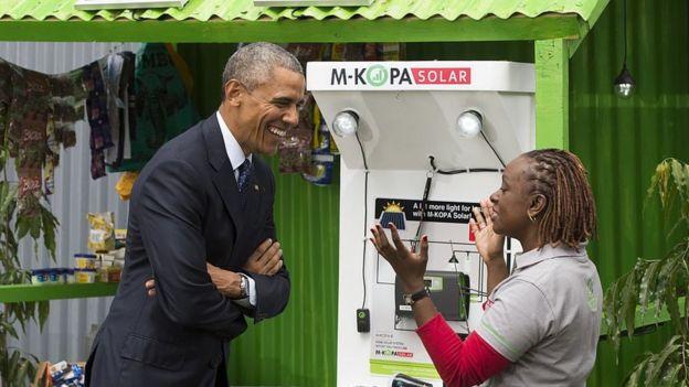 Obama and June Muli
