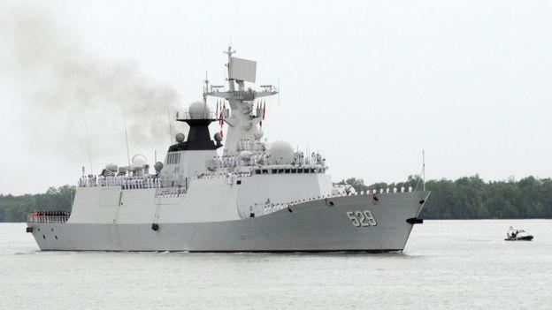 中國海軍艦艇於2016年10月訪問緬甸、馬來西亞和柬埔寨。