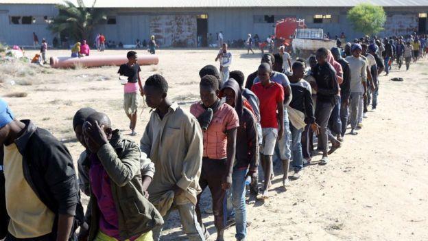 Des migrants africains détenus à Sabratha