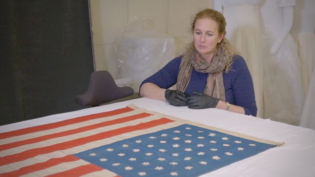 The US flag made by Islay locals is in the Smithsonian Institution in Washington DC