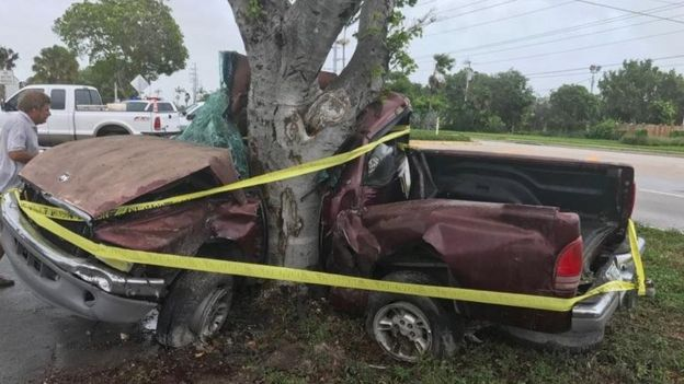 Vehicle involved in car crash in Florida, 10 September