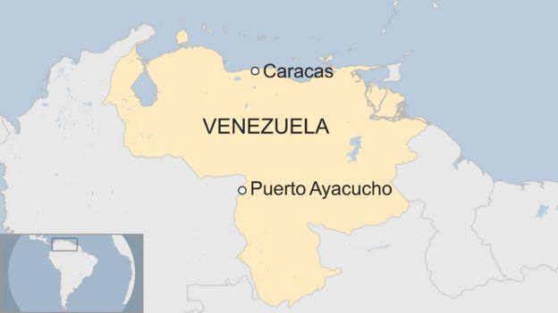 Venezuela Prison Massacre Kills BBC News - Map of venezuela world