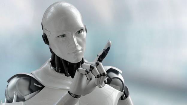humanoid robot pointing finger