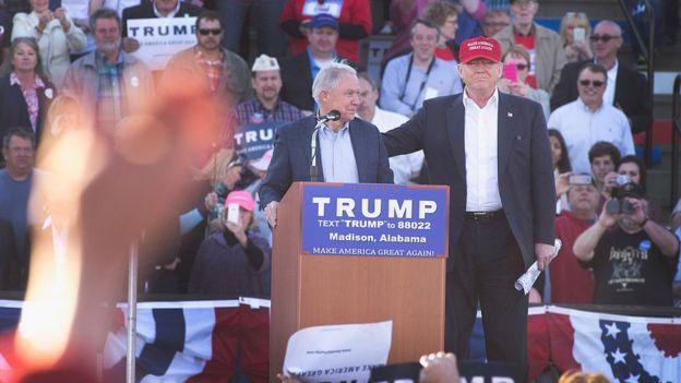 Sessions y Trump