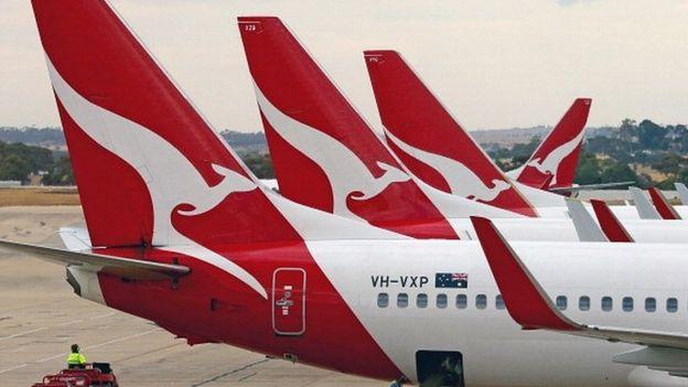 Qantas aircraft tailplanes