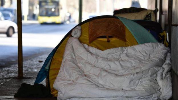 Berlin'de evsizler