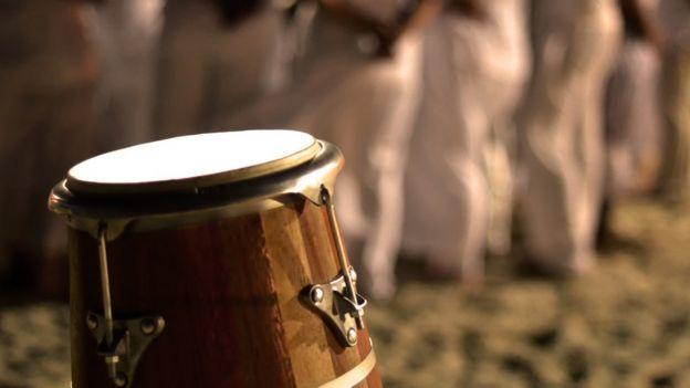 Cerimônia de religião afro-brasileira