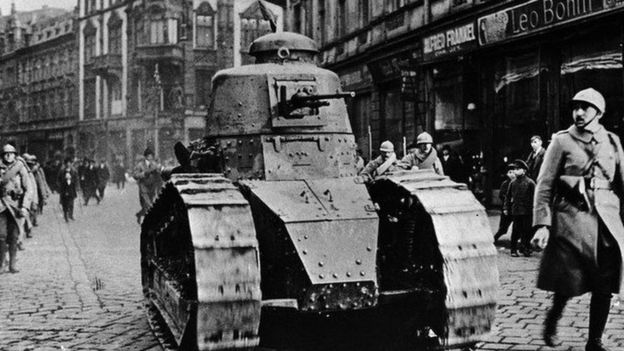 The French light tank Renault FT-17 Photo: Three Lions / Getty Images