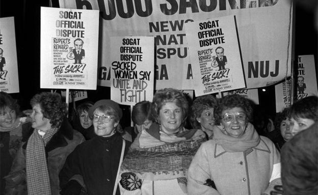 Women marching