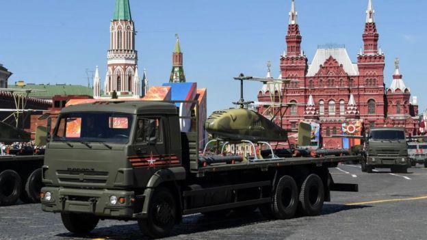 Un Katran en el desfile de Moscú