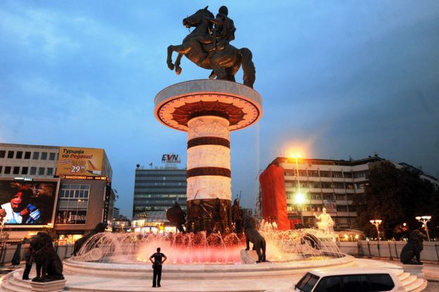 Estatua de Alejandro Magno en Skopje