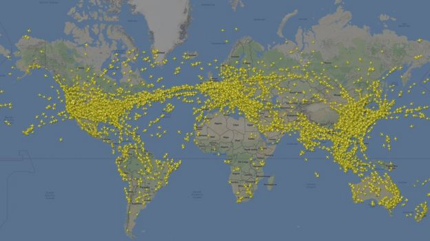 Foto de rutas aéreas