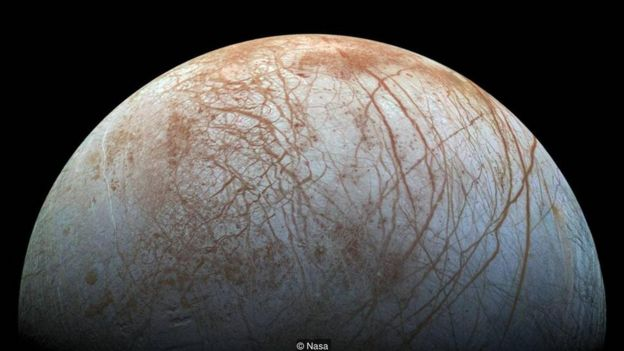 Jupiter's moon Europa is though to be one of the most likely places in the Solar System to harbour life