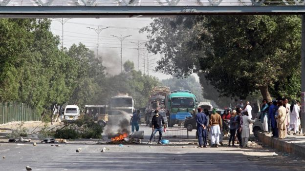 کراچی میں احتجاج