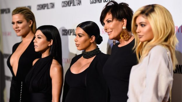 Left-right: Khloe Kardashian, Kourtney Kardashian, Kim Kardashian, Kris Jenner and Kylie Jenner