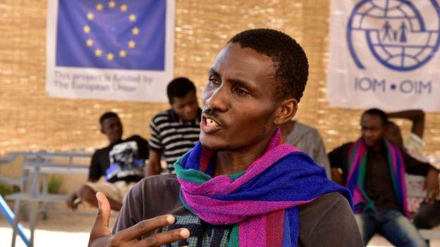 Migrante en Libia