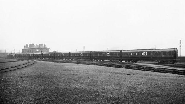 Exterior of hospital train