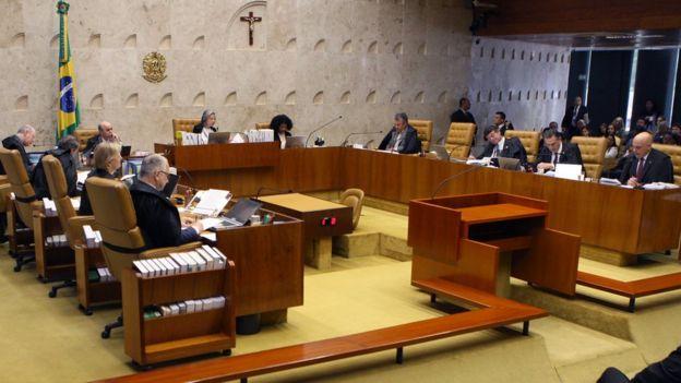 Ministros do STF reunidos em plenário