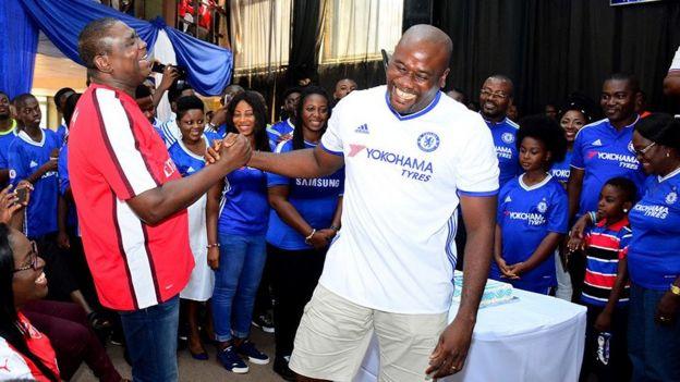 Arsenal fan and Chelsea fan
