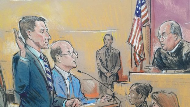 弗林在華盛頓特區的一個聯邦法院出庭