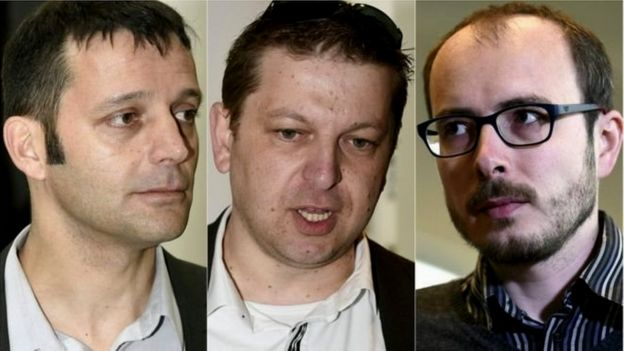 Edouard Perrin, Raphael Halet dan Antoine Deltour