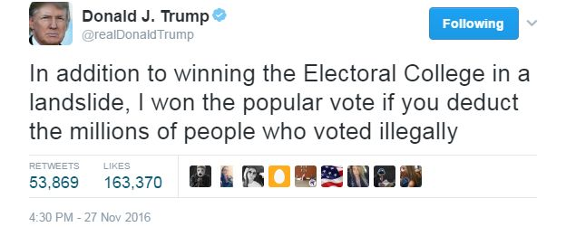 Image result for trump tweet illegal immigrants voting
