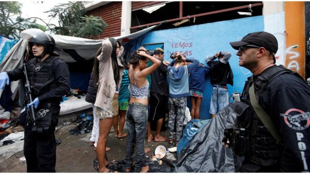 Ação policial na cracolândia em 21 de maio