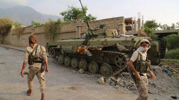 قوات موالية لحكومة الرئيس عبد ربه منصور هادي