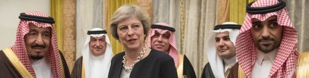 Prime Minister Theresa May meets King Salman bin Abdulaziz al Saud of Saudi Arabia