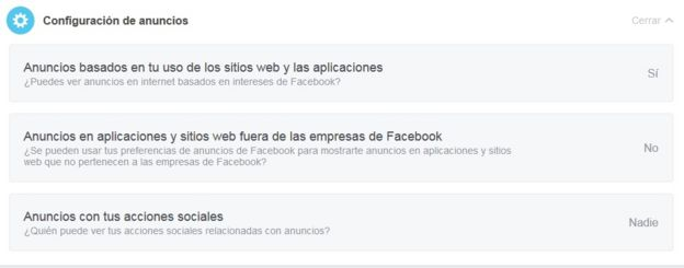 Configuración de anuncios en Facebook