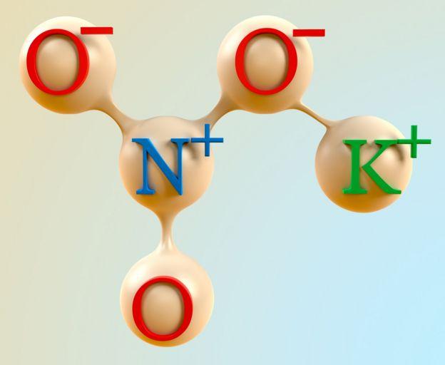 fórmula del nitrato de potasio