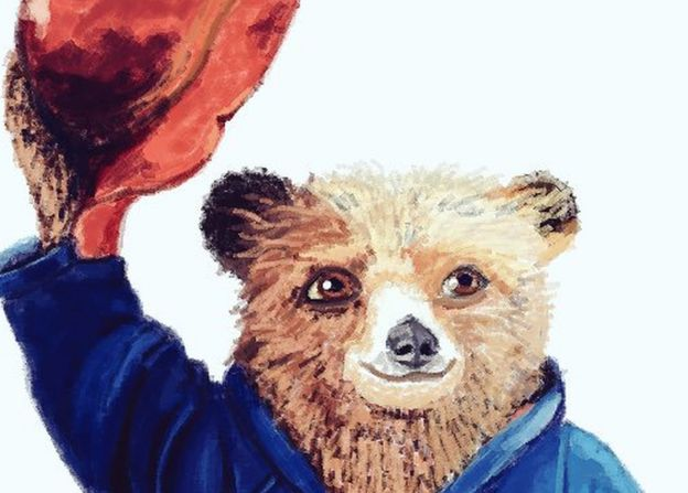 Paddington Bear in Paint