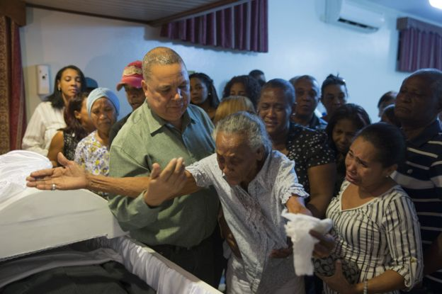 Family and friends mourn two murdered radio journalists in the Dominican Republic