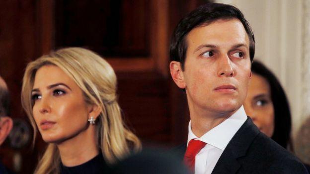 Kushner, Trump'ın büyük kızı Ivanka ile evli.