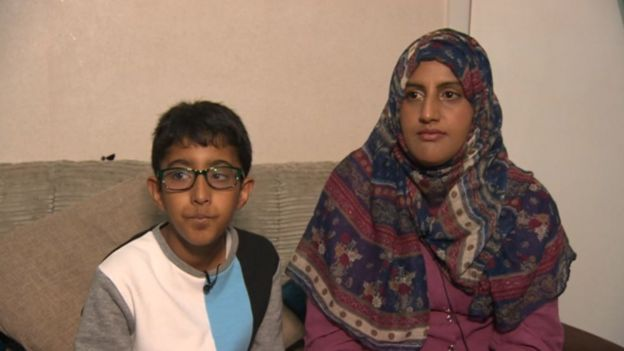 Nazreen Akhtar and Shaban speaking to the BBC