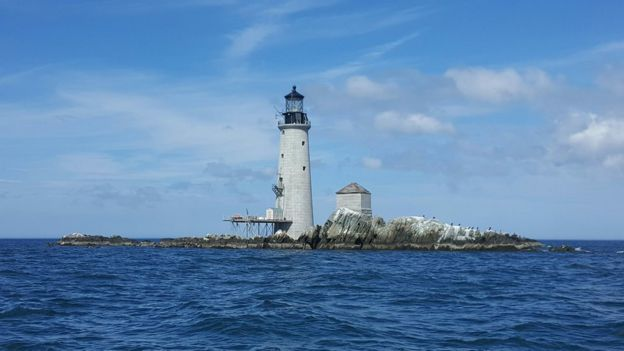 Restoration works at Graves lighthouse in Boston