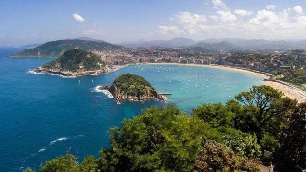 Vista de San Sebastián, en el País Vasco.