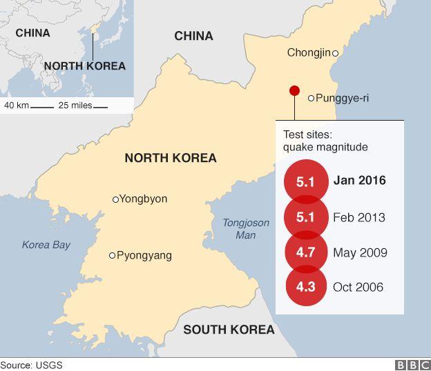 Sentinel Maps North Korean Nuclear Blast Aftermath BBC News - North korea map