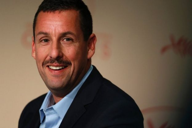 US actor Adam Sandler talks on May 21, 2017 during a press conference for the film