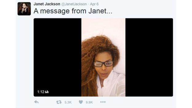 Janet Jacket katika video ya Twitter
