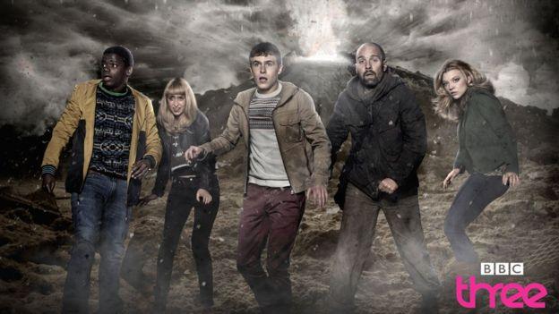 Daniel Kaluuya alongside co-stars in BBC Three drama The Fades.