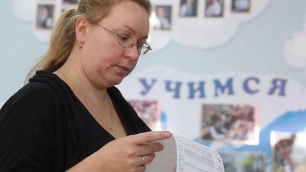 женщина на выборах