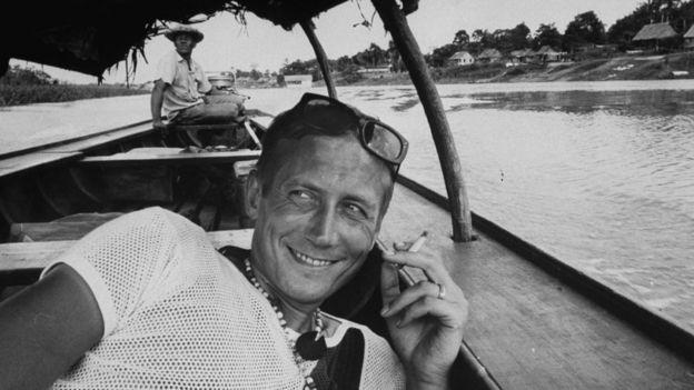 Евтушенко во время путешествия по Амазонке, 1968 год