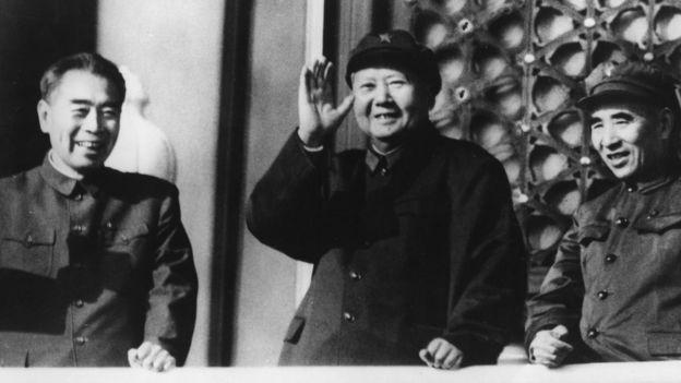 Chu Ân Lai, Mao Trạch Đông và Lâm Bưu trước khi Lâm bị hạ bệ