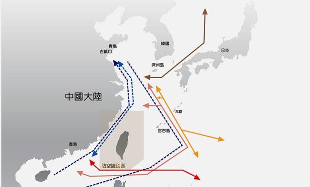 台灣軍方公布的數據指出,一年多以來,共軍飛機已經頻繁繞台飛行高達23次。