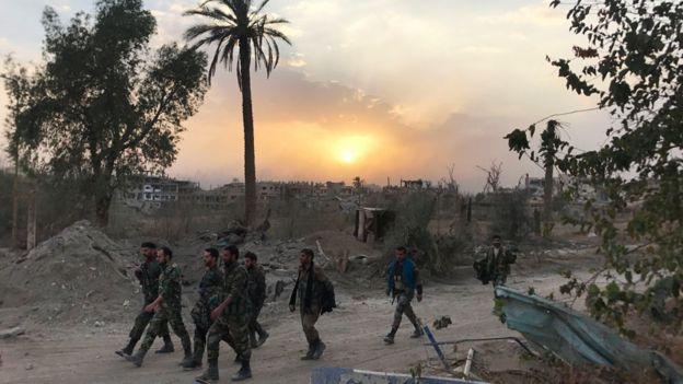 Сирийские войска в районе Дейр-Эз-Зора