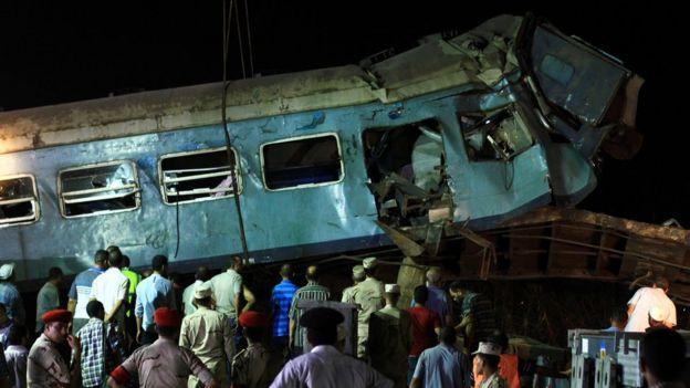 حادث القطار في مصر